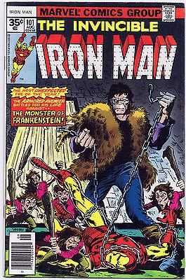 Invincible IRON MAN #101 35 Cent Price Variant Marvel Comics 1977 Frankenstein