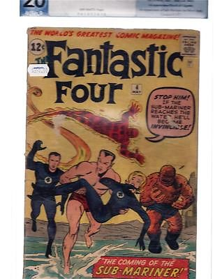 Fantastic Four 4      PGX  2.0  1st Silver Age Sub-Mariner    1.00 No Reserve