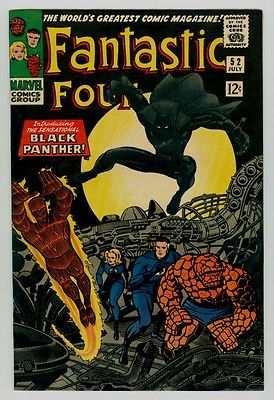 Fantastic Four #52 NM 9.4 OW/W pages 1966 Marvel Silver Age 1st Black Panther