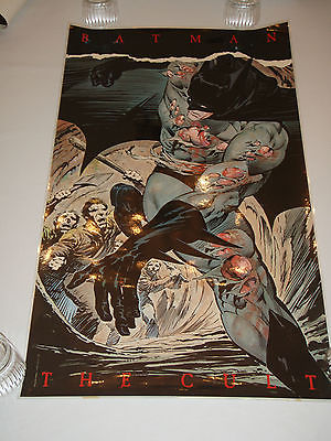 BATMAN THE CULT poster by Bernie Wrightson 1988 - 21 x 36
