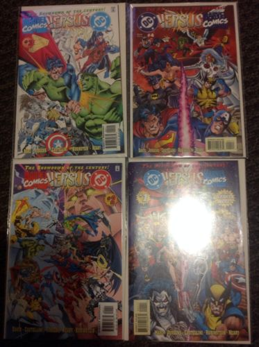 DC Versus Marvel 1-4 NEW-UNREAD NEAR MINT comic books