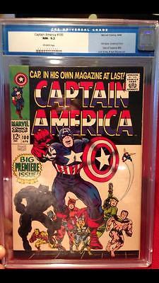 Captain America #100 CGC 9.2 1968 1st Issue Avengers Iron Man C10 111 1 cm