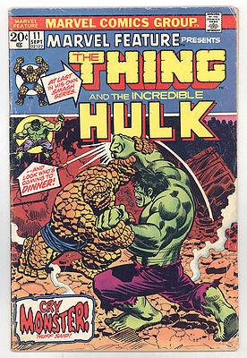 MarvelFeature Vol 1 #11 VG (4.0) Origin Fantastic Four - Thing vs Hulk - Starlin
