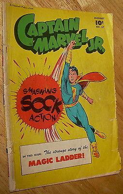 CAPTAIN MARVEL Jr. comics #57 Fawcett 1948 master mary wow whiz no rsv