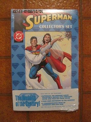 SUPERMAN THE WEDDING ALBUM COLLECTOR'S SET 5 COMIC BOOKS  INVITATION SEALED 1996