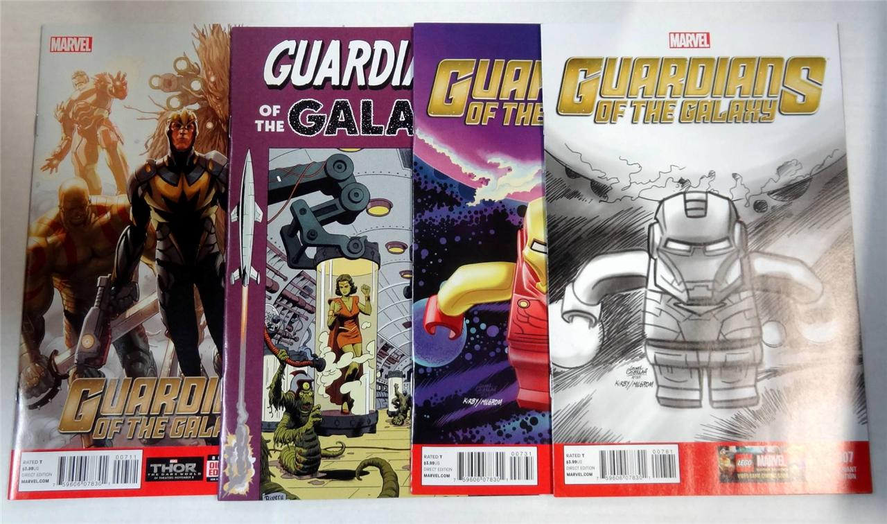 GUARDIANS OF THE GALAXY #7 VARIANT COVER SET 1:100 LEGO IRON MAN :25 1:50 RIVERA