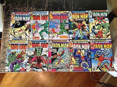 Lot O 10 Iron Man Marvel Comic Books #118 129 130 131 132 133 134 135 136 137 A5
