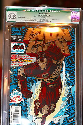 Iron Man #300 CGC 9.8 signed and numbered