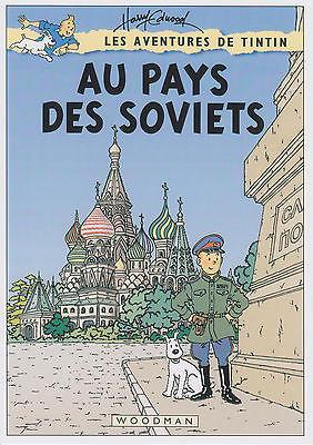 HARRY EDWOOD COUVERTURE FICTIVE TINTIN : AU PAYS DES SOVIETS
