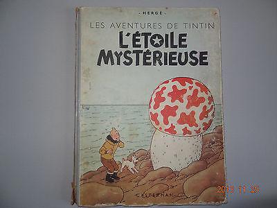 bd TINTIN l'étoile mystérieuse B1 de 1946 en BE Hergé
