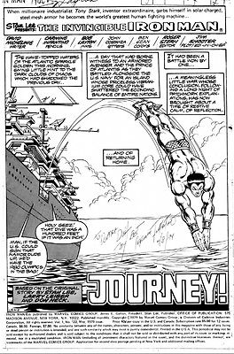 IRON MAN 122 SPLASH BY INFANTINO AND LAYTON