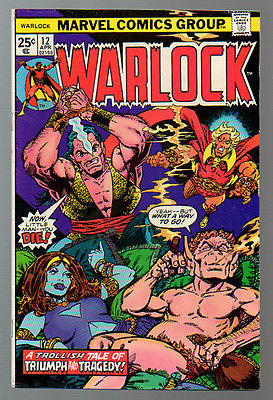 5 Book Lot: Warlock #'s 12 & 13, Str Tales #'s 178 & 181 and Marvel Team-Up #55