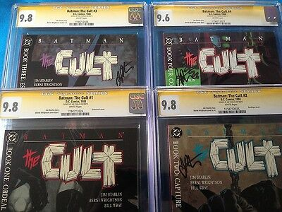 Batman: The Cult #1-4 set - CGC SS 9.8(1,2,3) 9.6(4) - all Signed by Jim Starlin
