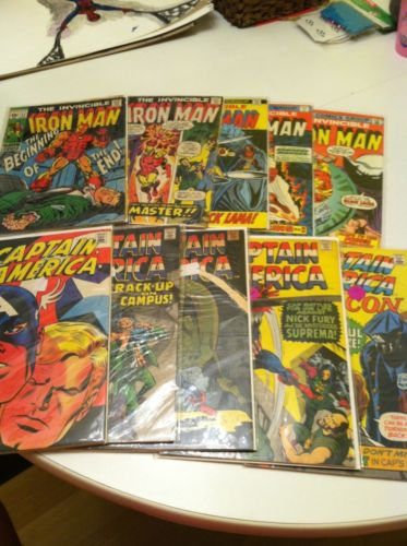 Captain America 114 120 122 123 139 Vg Iron Man 17 33 53 71 75 Gd