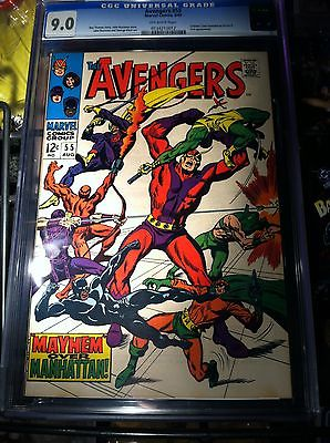 Avengers #55 CGC 9.0 OW VF/NM first 1st Appearance of Ultron movie x-men