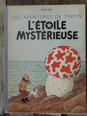 RARISSIME: Tintin, L'étoile mystérieuse, B1 1946/SUPERBE ETAT