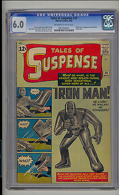 Tales of Suspense #39 CGC 6.0 Fine Unrestored Marvel 1st Iron Man