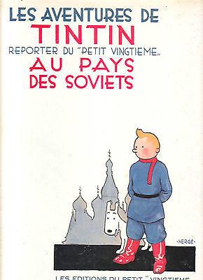 TINTIN AU PAYS DES SOVIETS fac similé (1981) de l'original