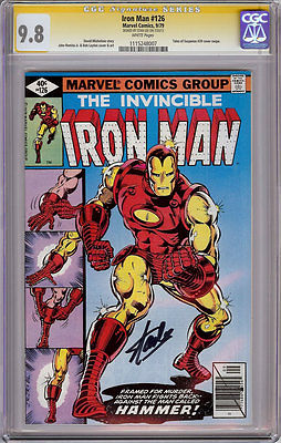 IRON MAN #126 CGC 9.8 WHITE PAGES SS SIGNATURE SERIES SIGNED STAN LEE