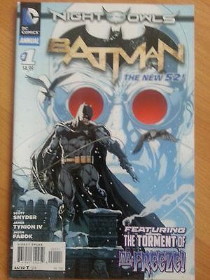 BATMAN ANNUAL # 1  -NM  NIGHT OF THE OWLS SCARCE  2012  DC NEW 52