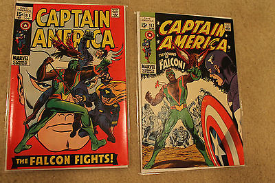 Captain America 117 118 VF- 1st and 2nd Falcon Must Haves Movie Soon