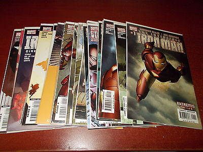 Lot of 19 Different the Invincible Iron Man #1-22 the Initiative Comic Book Run