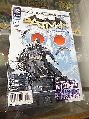 Batman Annual #1 1st Print NM 9.4 DC New 52 Scott Snyder Night of the Owls Fabok
