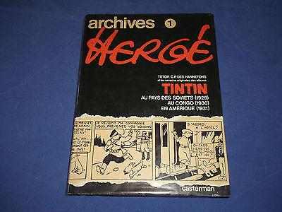 TINTIN  / HERGE / ARCHIVES 1/AU PAYS DES SOVIETS AU CONGO EN AMERIQUE / CASTERMA