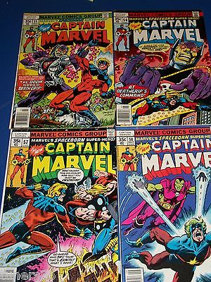 Captain Marvel #55,56,57,58 Bronze Age Run of 4 Thor Drax the Destroyer