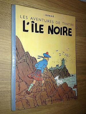 Hergé Tintin L'Ile Noire ED B1 Dos Bleu Papier Epais 1946 Tout Proche du NEUF.