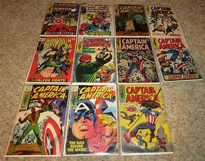 Captain America 102 104 105 107 113 114 115 116 117 118 119 121-190 35 Issue Lot