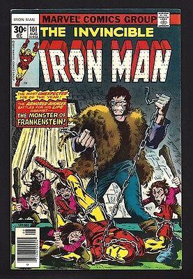 IRON MAN #101  VERY FINE NEAR MINT 8.5/9.0  FRANKENSTEIN MONSTER