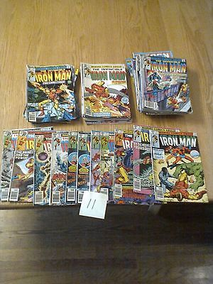 64 Iron Man Comics Starting 1970s with #120