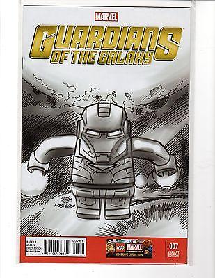 Guardians of the Galaxy #7 Castellani 1:100 Iron Man Lego Sketch Variant  NM