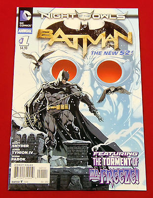 DC NEW 52- BATMAN ANNUAL #1- NIGHT OF THE OWLS- GREAT COPY LOOK