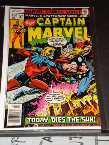 Captain Marvel #57/NM 9.8Super Hi-Grade Cap Vs Thor