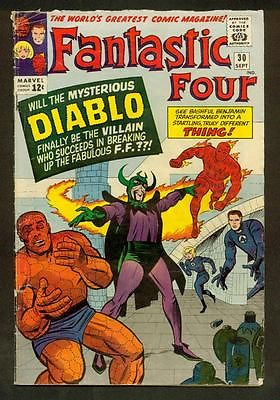 Fantastic Four #30 1964 Marvel Kirby and Stan First App. Diablo Nice