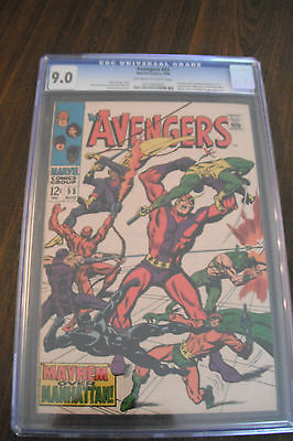 AVENGERS 54 55 lot Ultron CGC 9.0 Marvel Avengers 2 movie villain High Grade
