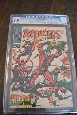 AVENGERS 54 55 lot Ultron CGC 9.0 Marvel Avengers 2 movie villain High Grade
