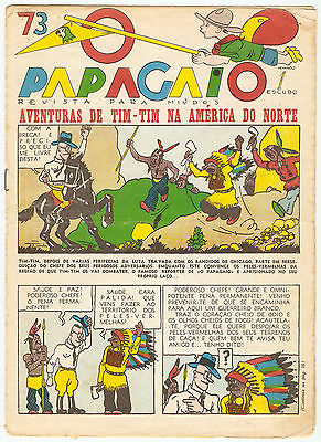 "TINTIN ""O PAPAGAIO"" AMERIQUE n°73/1936 (PÉRIODE PETIT VINGTIEME / LE SOIR)"