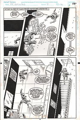 FANTASTIC FOUR UNLIMITED #5 PAGES 55 & 58 COMIC ORIGINAL ART HERB TRIMPE