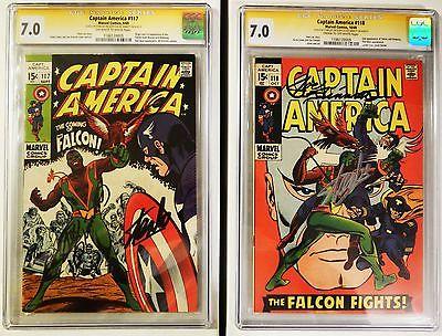 Captain America #117 & #118 CGC 7.0 SS Stan Lee & Joe Sinnott 1st & 2nd Falcon