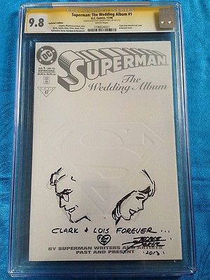 Superman: The Wedding Album #1 - DC - CGC SS 9.8 - Signed/Sketch by George Perez