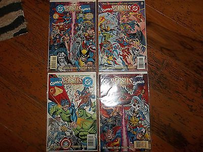 DC Versus Marvel Comics #1-4 awesome Comic Books