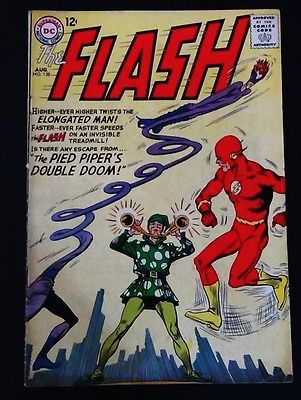 Flash #138 VERY GOOD/ VERY GOOD - WHITE/ OFF WHITE pages vs. The Pied Piper