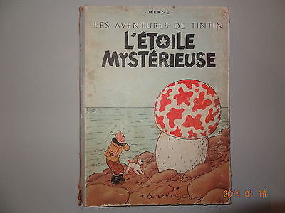 bd Superbe tintin l'étoile mystérieuse B1 de 1946  Hergé