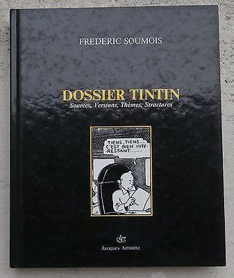 Rarissime Dossier Tintin Frédéric Soumois Superbe état NEUF EO 1987 Hergé