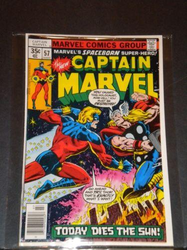 Bronze Age Marvel/Captain Marvel #57/Hi-Grade/NM 9.6/Cap Battles Thor