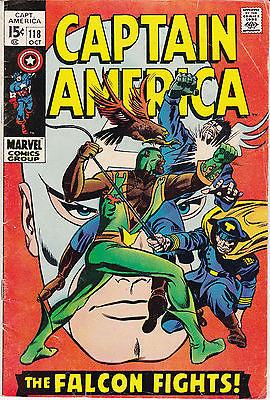 Captain America #118 (Oct 1969, Marvel) 2nd APP FALCON MID GRADE