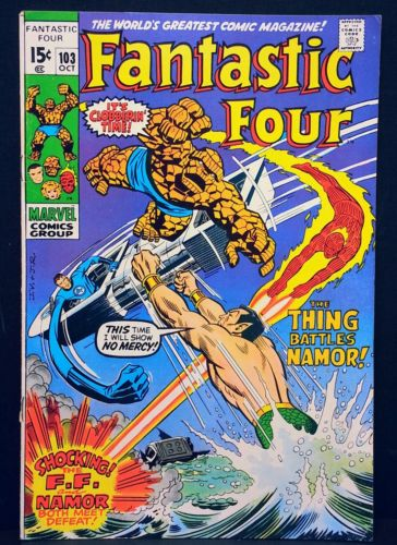 FANTASTIC FOUR 103 Marvel old key appearance app 1 Comic Namor The Thing 4 first